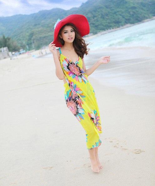 Manufacturers Direct Selling Cross Border Hot Selling Bohemian Camisole Beach Skirt Seaside Sun-resistant Silk Scarves Multi-fun