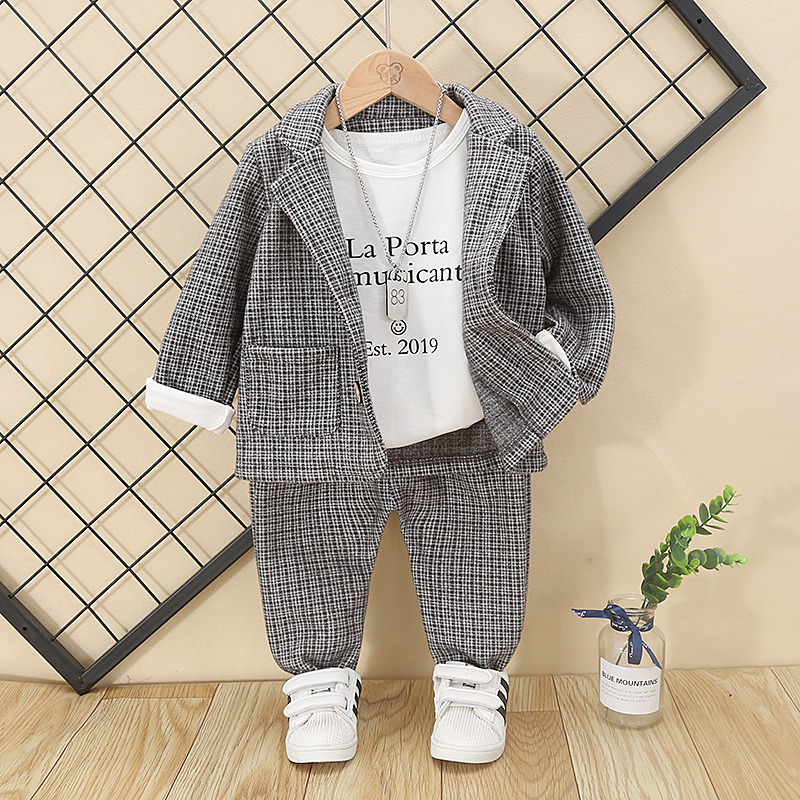 Boys Clothes Baby Striped Jacket + Elastic Pants 2 PCS Children Suit Long Sleeves Toddler Clothing Baby Birthday Gift 1 Age