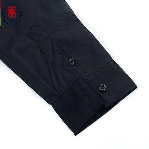 Image 5 - Fredd מרשל 2020 אביב חדש טלאי חולצה גברים מזדמן חברתי ארוך שרוול שמלת חולצה זכר 100% כותנה צבע בלוק חולצות 215