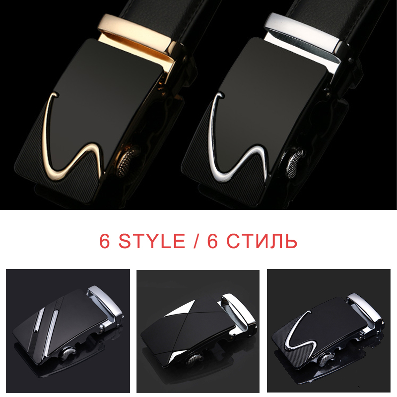 Leather Strap Male Automatic Buckle Belts For Men Authentic Girdle Trend Men's Belts Ceinture Fashion Designer Women Jean Belt