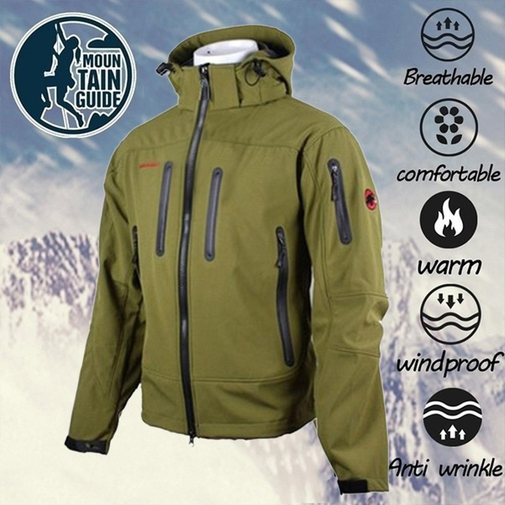 Outdoors Polartec Warm Windbreaker Jacket Men Winter Hooded Softshell For Windproof And Waterproof Soft Coat Shell Jacket #1111