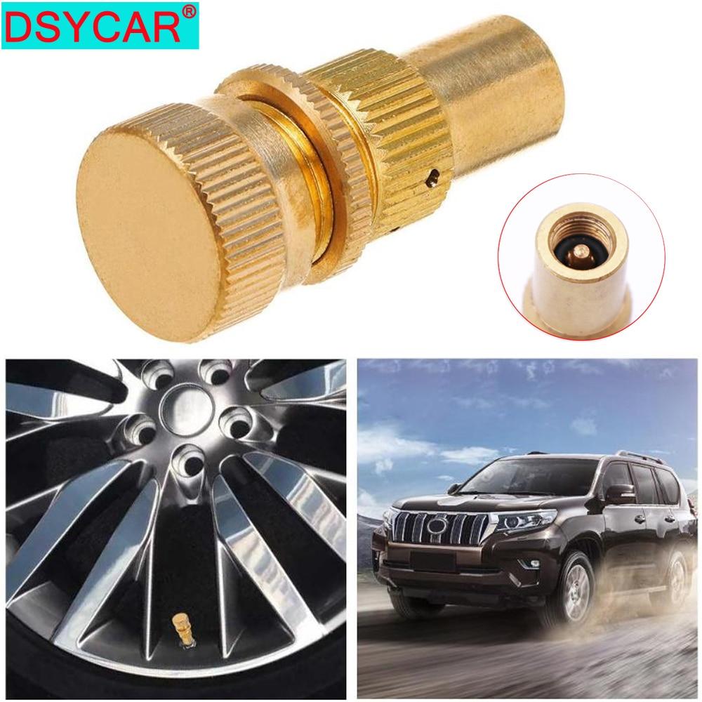 DSYCAR 1Pcs Universal Car Tire Deflators Accessories Kit Offroad Brass Automatic Auto Tyre Bleeder Set Valve 6-30 PSI New