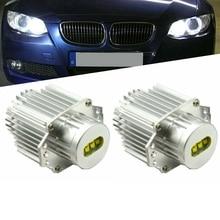 цена на 2Pcs 160W LED Halo Ring Marker Angel Eyes Light Bulb Canbus Error Free for BMW E90 E91 325I 328I 320I 330I 2005-2008