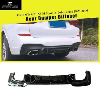 Автомобильный задний бампер диффузор для губ для BMW X3 M Sport X-Drive 25iM 28iM 30iM 2018 2019 углеродный глянец Черный спойлер