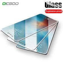 Protector de pantalla templado 9H Anti estallido para iPhone 7 5S 5 6 6s para iPhone Xs Max XR 11 Pro 8 Plus Glass