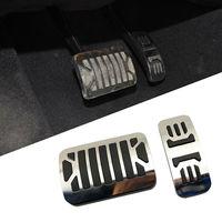 Anti deslizamento em combustível gás acelerador pedal de freio capa apto para jaguar xf xjl xj iv x351 2010 2011 2012 2013 2014 2015 acessórios