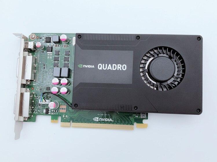 Original Quadro K2000D 2G D5 Professional Graphics Medical Imaging System Image DVI+miniDP