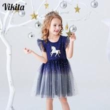 Vestido Infantil de verano para niñas, ropa de actuación, fiesta de cumpleaños, informal, vestidos de unicornios