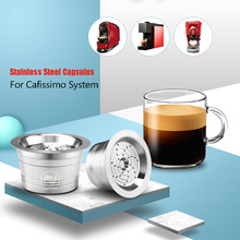 Coffee-Capsules Refillable Pods Stainless-Steel Cafissimo Tichibo Crema Permanent