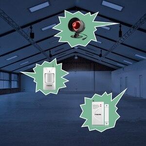 Image 4 - Беспроводная Громкая сирена Towode 110 дБ, охранная система для дома, охранная сигнализация, PIR детектор, датчик двери