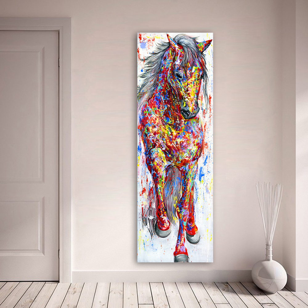 Colourful The Standing Animal Poster Picture Canvas Painting Posters and Prints Wall Art for Living Room Home Decoration