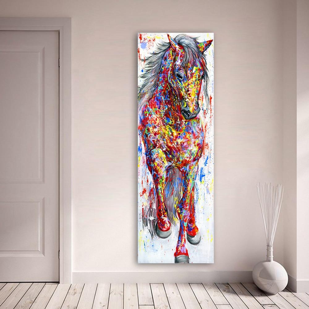 Colorido o animal de pé cartaz imagem da lona pintura cartazes e impressões arte da parede para sala estar decoração casa