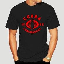 2020 engraçado cobra comandante logo esquadrão g.i joe filmes-camiseta masculina personalizado t 8795x