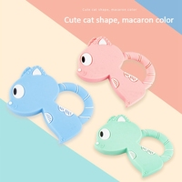 Baby Teething Toy Baby Teethers Silicone Teether Latex Free Food Grade Cute Cat Baby Gift Food Grade Teething Teether Bead Bab y