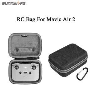 Image 3 - Sunnylife Portable Mavic Air 2 étui de transport sac à bandoulière Drone sac télécommande sac de rangement pour Mavic Air 2
