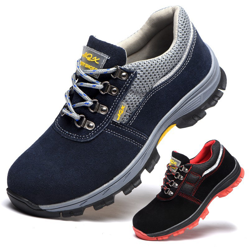 Safety Shoes Men's Breathable Work Shoes Safe Protective Shoes Steel Head Smashing Anti Puncture A Generation Of Fat