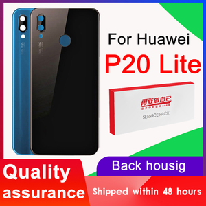 High quality BackHousing Replacement for Huawei P20Lite Back Cover Battery Glass with Camera Lens Huawei for P20 Lite Rear cover