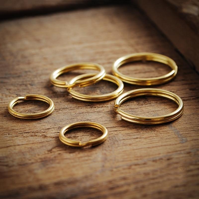 brass round key rings (3)