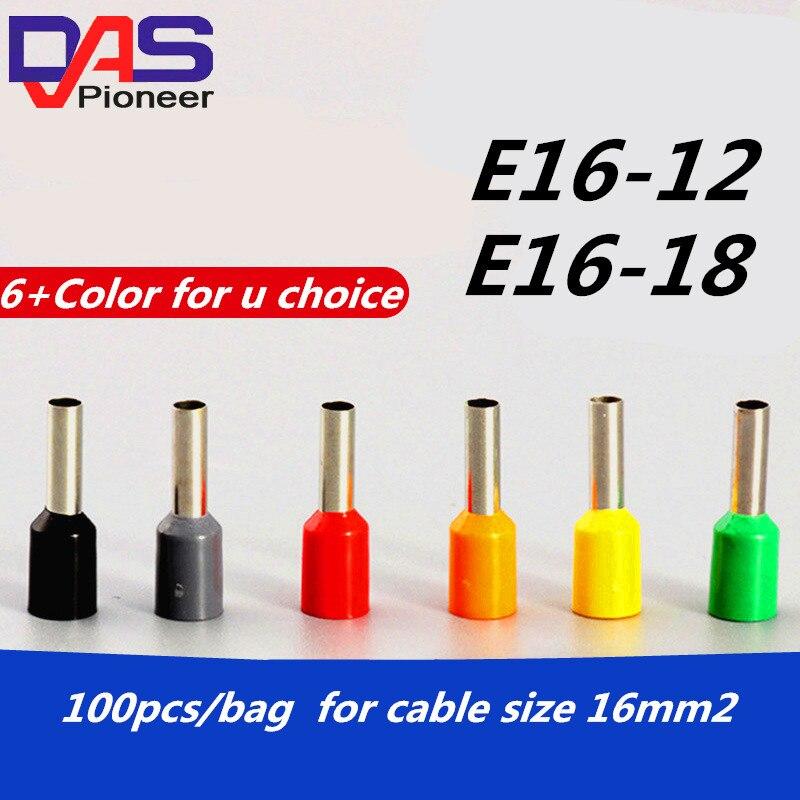 100pcs 22~4AWG Bootlace cooper Ferrules Wire Copper Crimp Connector Terminal EN