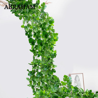 186cm Fake Monstera Vine Artificial Plastic Palm Leafs Rattan Tropical Turtle Leaves Wall Hanging Plant for Halloween Home Decor