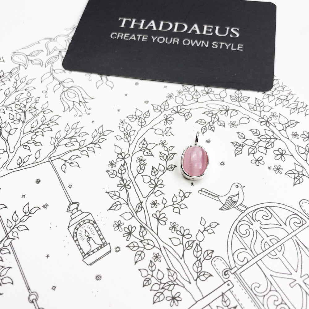 ペンダントピンクオーバルオパール、 2019 冬の新ファッションジュエリートーマスビジュー 925 スターリングシルバーのための Ts 女性