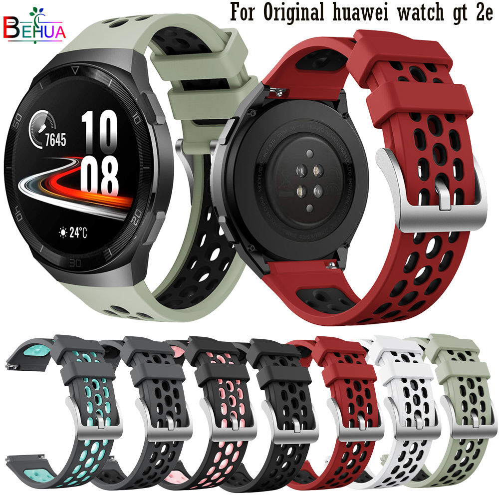 BEHAU Sport Silicone Watch Strap For Huawei watch GT 2e original SmartWatch band Replacement GT2e WristBand 22mm Bracelet belt