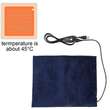 5V almohadilla térmica de fibra de carbono calentador de mano USB película de calefacción eléctrica invierno cálido infrarrojo 3 engranajes ajustado Fever alfombra de calor