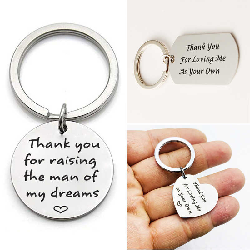 Thank You Heart Shape Father Of The Groom Keychain Key Ring Key Chain Pendant on