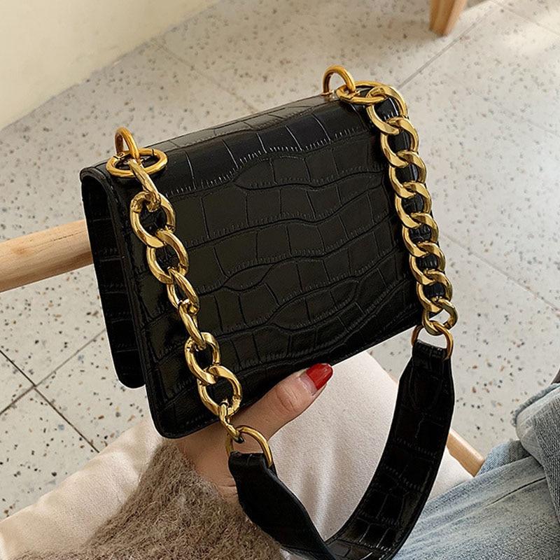 Crossbody Bags Fashion Ladies Elegant Flap New PU Letter Chains Strap Purse Female Totes Women's Handbags Casual Shoulder Bags