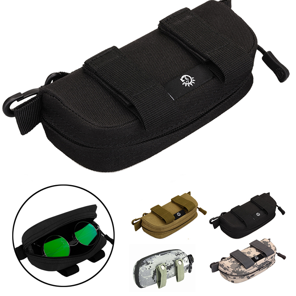 Tactical Sunglasses Case Military Molle Pouch Camouflage Goggles Storage Box Eyewear Accessory Waist Pouch EDC Accessory Bag
