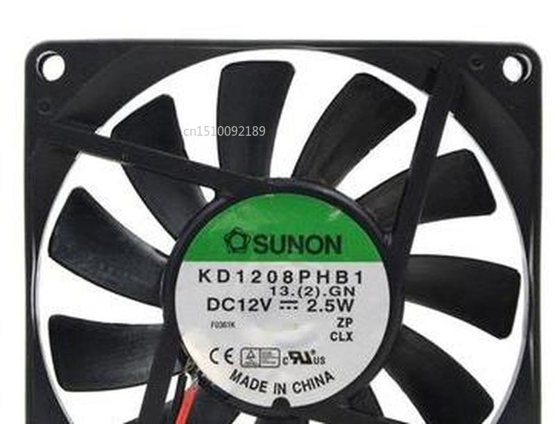 For KD1208PHB1 12V 2.5W 8CM 8015 3-wire Cooling Fan 80*80*15MM Free Shipping