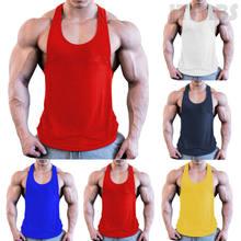 Camiseta sin mangas de gimnasio para hombre, camiseta sin mangas para culturismo, deporte, Fitness, entrenamiento, camiseta transpirable para correr