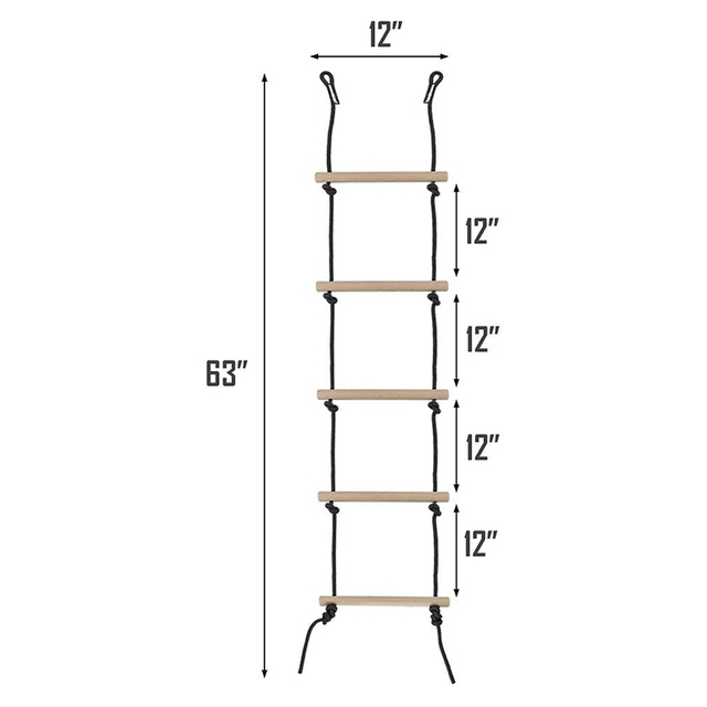 5.2FT Rope Ladder for Tree House 3