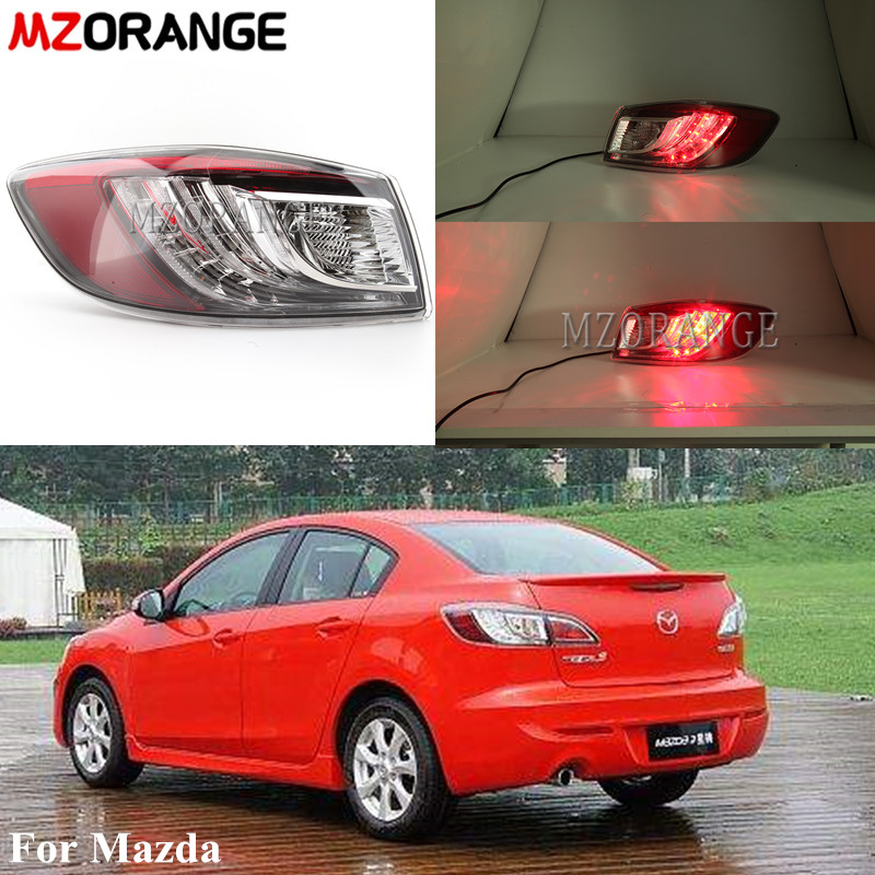 Left/Right Outer Tail Light For Mazda 3 2.0L Rear Tail Light Fog Light  LED Rear Bumper Tail Lamp Car Assembly