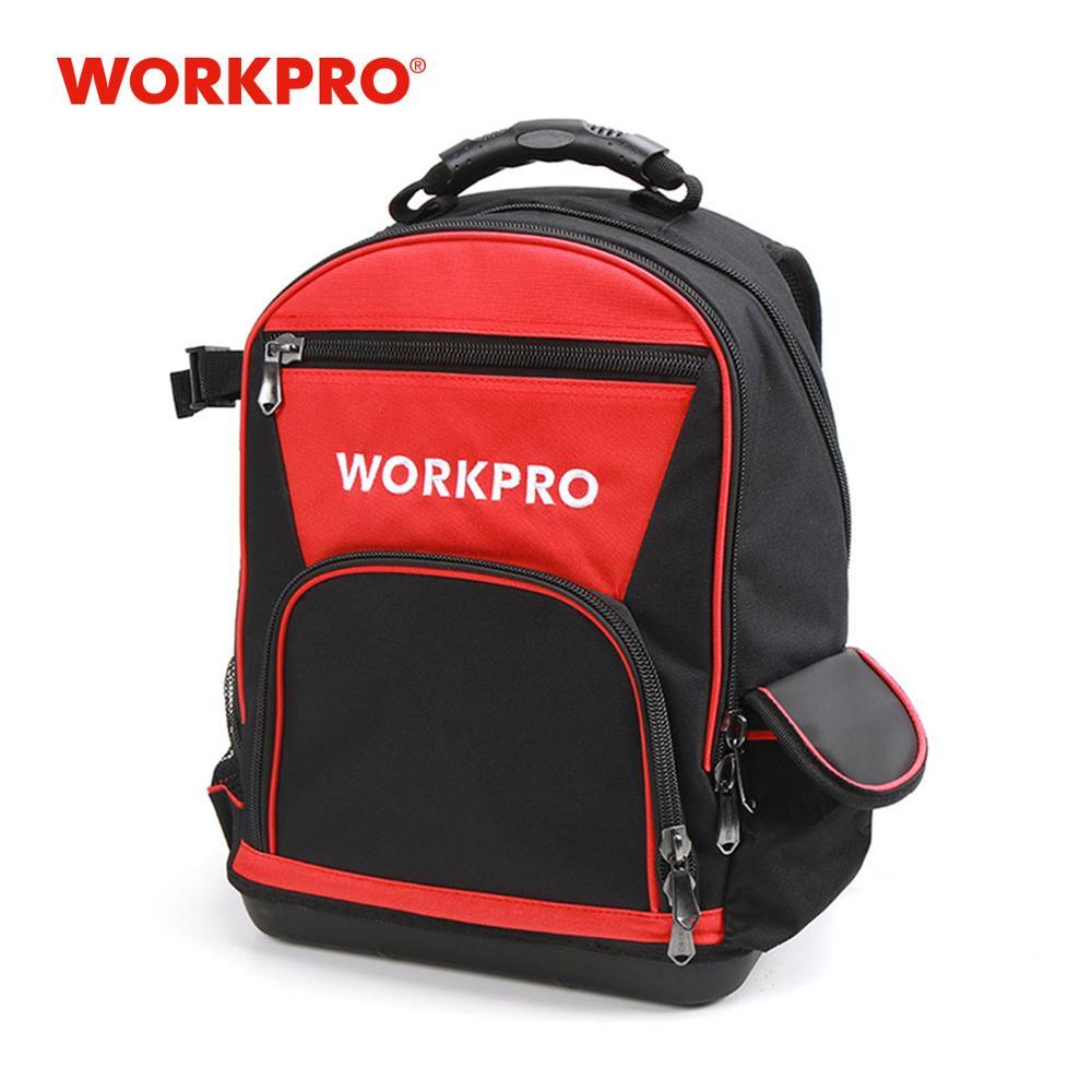 """WORKPRO 17"""" Tool Bag Tools Storage Bags Waterproof Backpack With Handbag Multifunction Bags"""