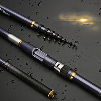 Fishing rod new 3.6 6.3 m long cast carbon fish rods long section fishing gear sandpiper fishing pole