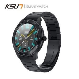 Image 2 - KSR909 ساعة ذكية تعمل باللمس كامل الشاشة IP68 مقاوم للماء ECG كشف بطلب للتغيير Smartwatch جهاز تعقب للياقة البدنية سوار ذكي