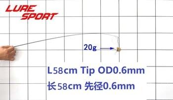 LureSport 2pcs 58cm Solid carbon rod Tip blank  no paint Rod building components Fishing Pole Repair DIY Accessories