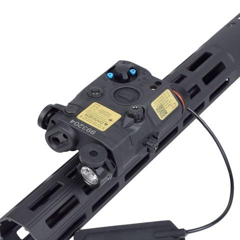 um peq 15 red dot laser branco led strobe lanterna para padrao 20mm ferroviario visao