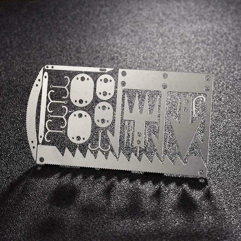 22IN1 ALL Tool Card survival Wallet sized Camping Hiking Emergency EDC Gear