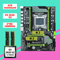 Скидка  материнская плата HUANAN ZHI X79 LGA2011  материнская плата  процессор RAM combo CPU Xeon E5 2620 V2 2 1 ГГц RAM 16G (2*8G)  2 года гарантии