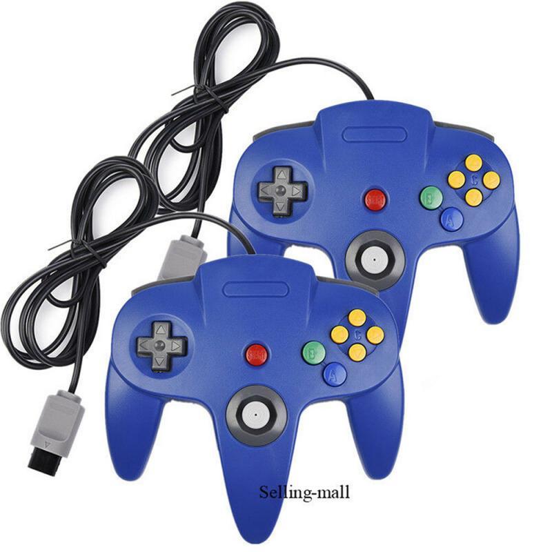 N64 controlador joystick gamepad longa wired para clássico 64 jogos de console