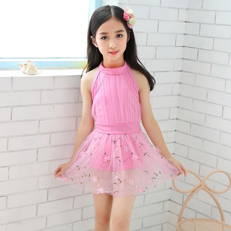 Wholesale Hot Sales New Style KID'S Swimwear Students Korean-style Cute Fresh Skirt Tour Bathing Suit Children Versatile Swimwea