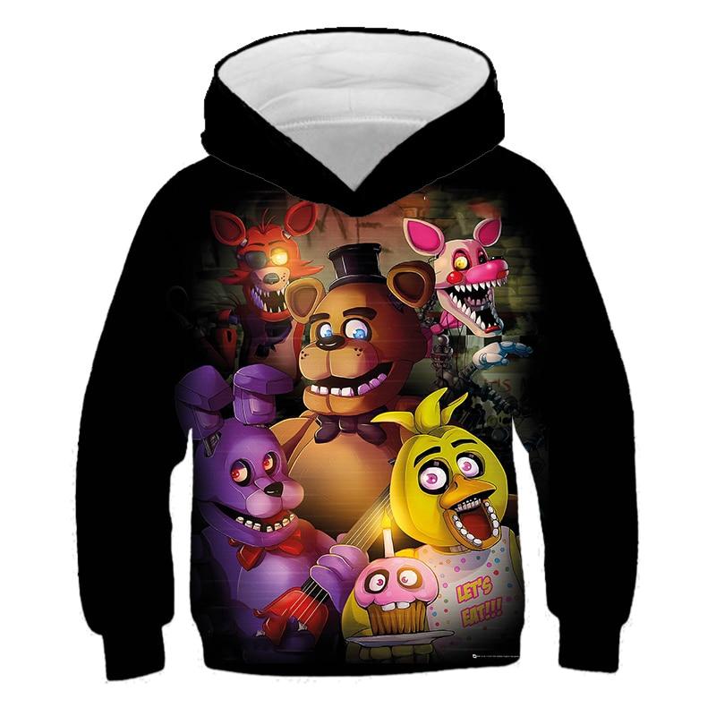 Одежда «пять ночей с Фредди» Детская одежда толстовки с длинными рукавами для маленьких девочек и мальчиков детские толстовки подарки на д...