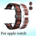 Деревянный ремешок для Apple watch 4 5 ремешок 44 мм 40 мм iWatch 5 4 3 42 мм 38 мм из натурального красного сандалового дерева + браслет из нержавеющей стали...