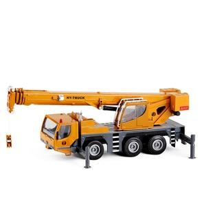 Image 2 - Modelo de aleación de grúa de alta calidad 1:50 rueda pesada, coche de juguete de ingeniería deslizante de metal de simulación, regalo educativo, envío Gratis