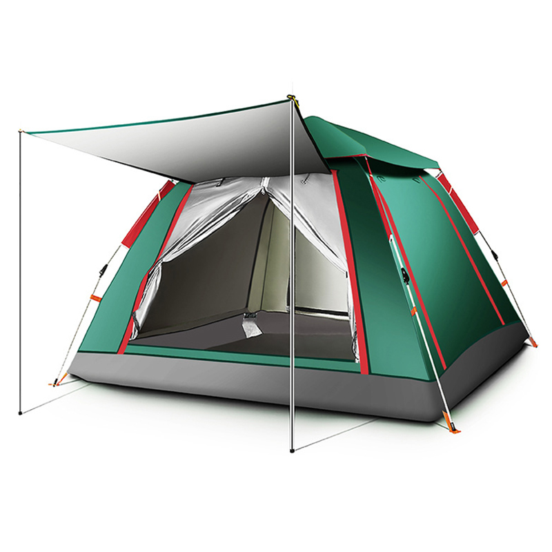 3 4 Person Automatic Tents Waterproof Camping Hiking Tent Outdoor Large Family Tent Portable Anti UV Multi purpose Tent KEOGHS|Tents| |  - title=