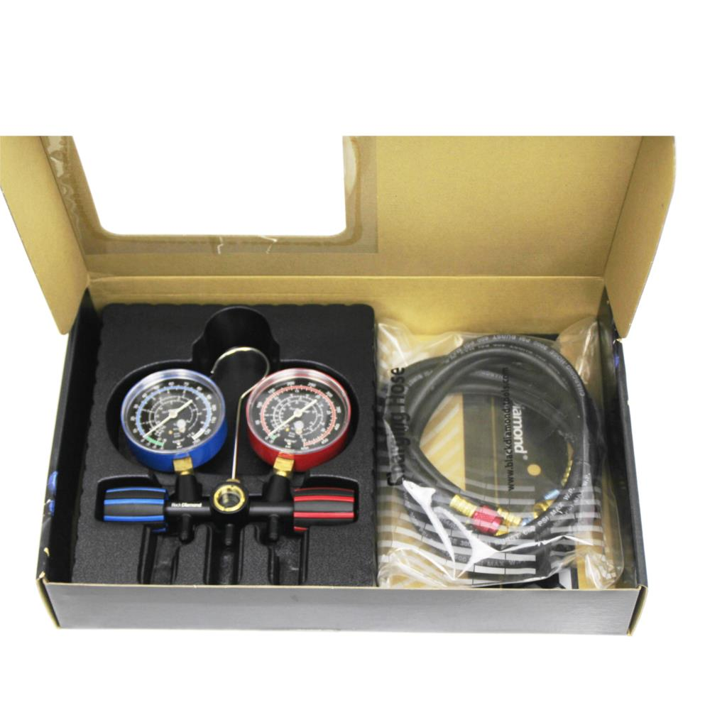 21353 Black Diamond Testing Manifold Gauge Set Refrigerant Fluoride Table For R22 R134a R404A