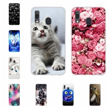 For Samsung Galaxy A20 A30 Cover Thin Soft Silicone Case Girl Patterned Funda Capa