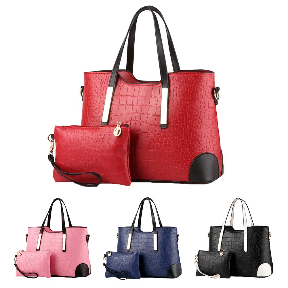 2019 новая горячая распродажа мода 2 шт./компл. Женская цветная клетчатая сумка через плечо искусственная кожа Сумка Сумочка на запястье